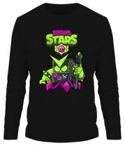 Мужская футболка длинный рукав Virus 8-Bit New Skin Brawl Stars