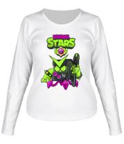 Женская футболка длинный рукав Virus 8-Bit New Skin Brawl Stars