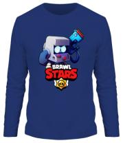 Мужская футболка длинный рукав Hero from Brawl Stars