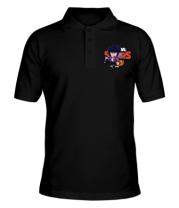 Мужская футболка поло  Bibi from Brawl Stars