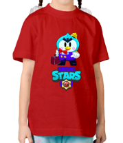 Детская футболка Brawl stars Mr Penguin