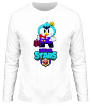 Мужская футболка длинный рукав Brawl stars Mr Penguin