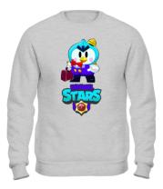 Толстовка без капюшона Brawl stars Mr Penguin