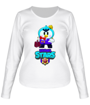 Женская футболка длинный рукав Brawl stars Mr Penguin