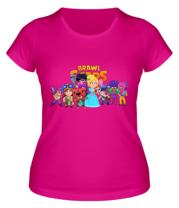 Женская футболка Brawl stars girl