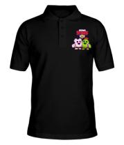 Мужская футболка поло BS Sakura and Spike