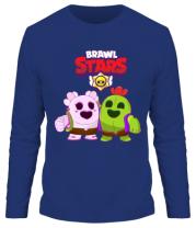 Мужская футболка длинный рукав BS Sakura and Spike