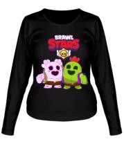 Женская футболка длинный рукав BS Sakura and Spike