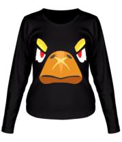 Женская футболка длинный рукав  Brawl stars crow