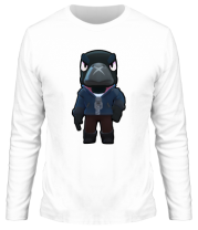 Мужская футболка длинный рукав Crow