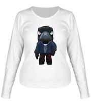 Женская футболка длинный рукав Crow
