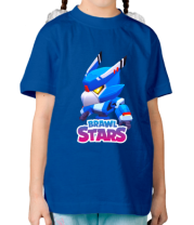 Детская футболка Mecha Crow and color logo