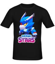 Мужская футболка Mecha Crow and color logo
