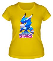 Женская футболка Mecha Crow and color logo