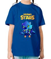 Детская футболка Brawl stars Leon werewolf
