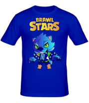 Мужская футболка Brawl stars Leon werewolf