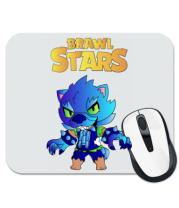 Коврик для мыши Brawl stars Leon werewolf