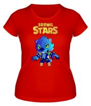 Женская футболка Brawl stars Leon werewolf