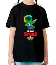 Детская футболка Brawl stars Leon dab
