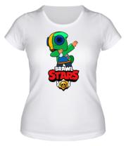 Женская футболка Brawl stars Leon dab