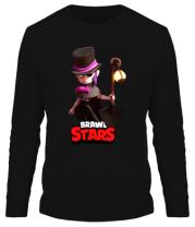 Мужская футболка длинный рукав Mortis Brawl Stars Hero