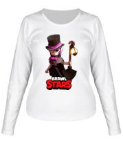 Женская футболка длинный рукав Mortis Brawl Stars Hero