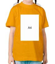 Детская футболка Влад А4 лист