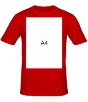 Мужская футболка Влад А4 лист