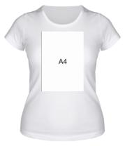 Женская футболка Влад А4 лист