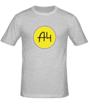 Мужская футболка A4 КРУГЛОЕ ЛОГО