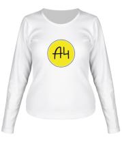 Женская футболка длинный рукав A4 КРУГЛОЕ ЛОГО