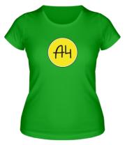 Женская футболка A4 КРУГЛОЕ ЛОГО