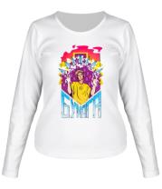 Женская футболка длинный рукав Влад А4 Бумага