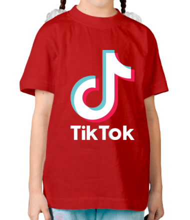 Детская футболка  Tiktok logo