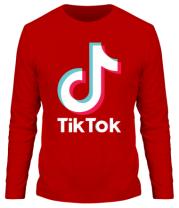 Мужская футболка длинный рукав  Tiktok logo