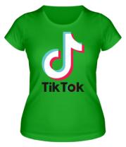 Женская футболка  Tiktok logo