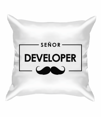 Подушка Senor Developer