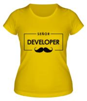 Женская футболка Senor Developer