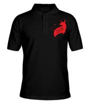 Мужская футболка поло Год Коровы 2021