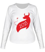 Женская футболка длинный рукав Год Коровы 2021