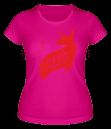Женская футболка Год Коровы 2021