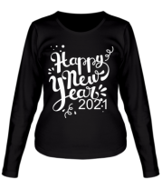 Женская футболка длинный рукав Новый год 2021