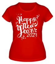 Женская футболка Новый год 2021