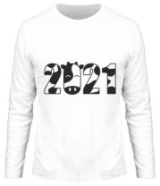 Мужская футболка длинный рукав Новый Год