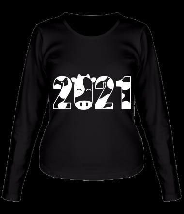 Женская футболка длинный рукав Новый Год