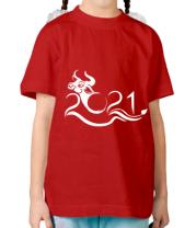 Детская футболка Новый Год , Год Быка