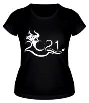 Женская футболка Новый Год , Год Быка