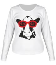 Женская футболка длинный рукав Год Коровы
