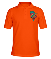 Мужская футболка поло Космический Рекс