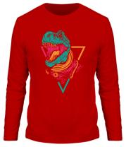 Мужская футболка длинный рукав Космический Рекс